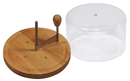 Kesper 68621 Käsehobel mit Haube für 'Tete de moine' Käse, Ø 21 cm,Braun