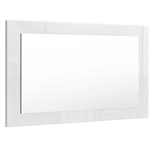 Vladon Spiegel Wandspiegel Lima 89cm in Weiß Hochglanz