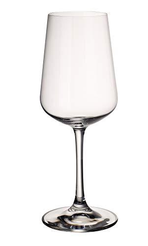 Villeroy & Boch Ovid weißweingläser, 4er-Set, 380 ml randvoll gemessen, Kristallglas, Klar