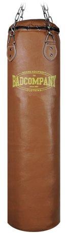 Profi Retro Leder Boxsack braun 100 x 35cm gefüllt inkl. Heavy Duty Vierpunkt-Stahlkette