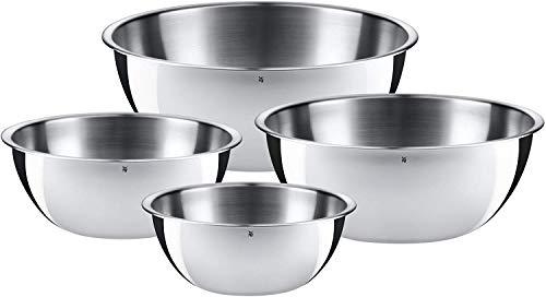 WMF Gourmet Schüsselset 4-teilig, Schüsseln für die Küche, Cromargan Edelstahl poliert, 0,75l -...