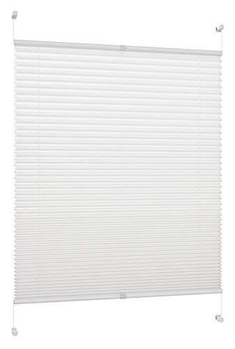 DecoProfi Plissee, Stoff, Weiß, 85 cm x 130 cm