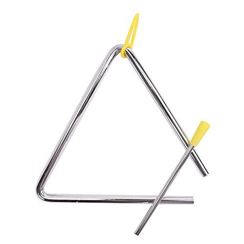TRIXES Triangel - Stahl-Schlaginstrument mit Klöppel - für Schulkinder und Anfänger beim...