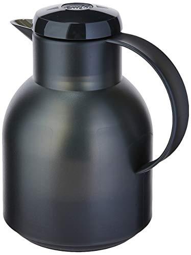 Emsa Samba Isolierkanne 504235 | 1 Liter | Quick Press Verschluss | 100% dicht | 12h heiß, 24h kalt...