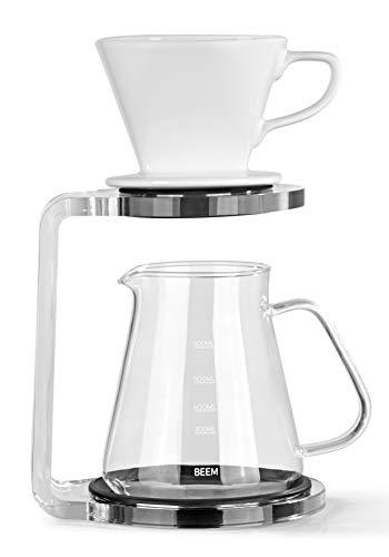 BEEM Pour Over Kaffeebereiter Set - 5 Tassen | Classic Selection | 3-teilig |...