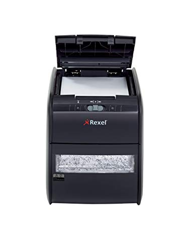 Rexel Auto+ 60X Aktenvernichter für Kleinbüros, Partikelschnitt, Autofeed, 15L Abfallbehälter, 60...