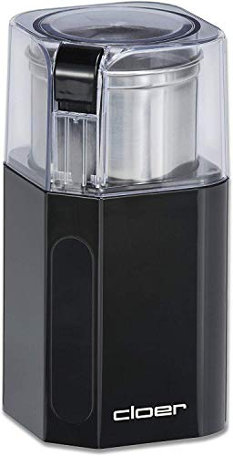 Cloer 7580 Elektrische Kaffee-und Gewürzmühle, 200 W, für Pesto, Nüsse und Getreide, bis zu 70 g...