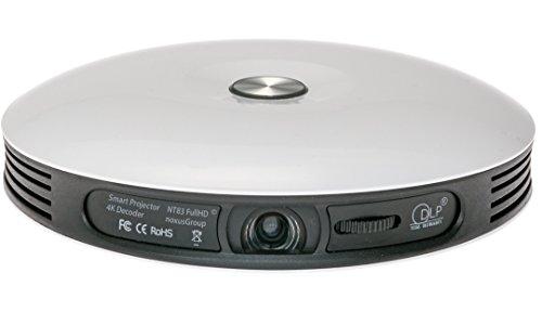 Smart Projector NT83 (Beamer mit AKKU | 4K FullHD 3D fähig | DLP | LED | 300 Zoll | interner 32GB...