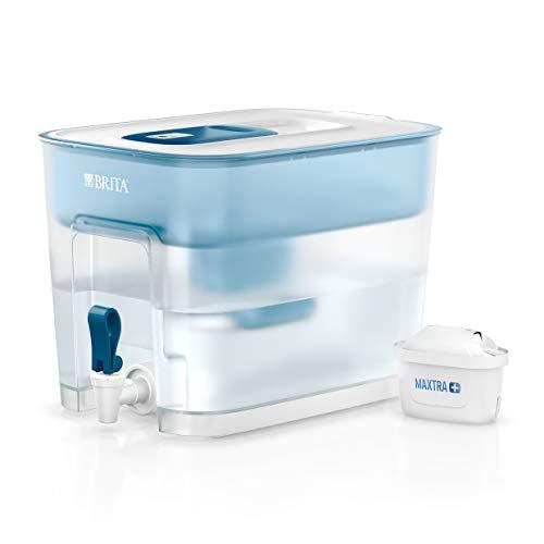 BRITA Wasserfilter-Station Flow inkl. 1 MAXTRA+ Filterkartusche – XXL Tischwasserfilter mit...