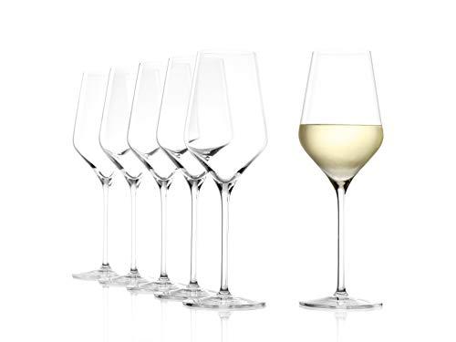 Stölzle Lausitz Weißweinkelch Quatrophil 405ml I Weißweinglas 6er Set I Weingläser...