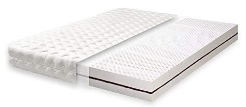 Primo Line Latexmatratze Kokos Matratze 90x200 H2 mit Kokosplatten 7 Zonen RG 65 (bis 95kg) Bezug &...
