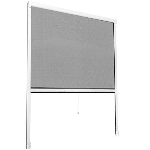 TecTake Insektenschutzrollo Fliegengitter Rollo Aluminium - diverse Größen - (110x160cm | Nr....