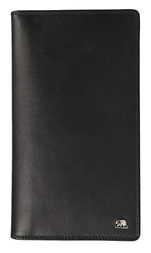 Brown Bear Business Reise-Brieftasche Leder Schwarz für Herren und Damen hochwertig