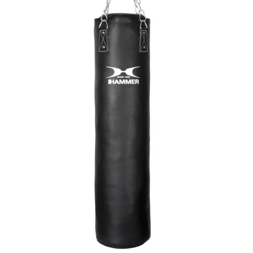 HAMMER BOXING Boxsack Premium Black Kick - Ideal für Box- und Kickbox-Training
