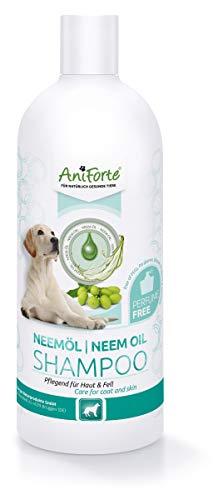 AniForte Neemöl Shampoo für Hunde 500ml - Hundeshampoo gegen Juckreiz Hund, Pflegeprodukt,...
