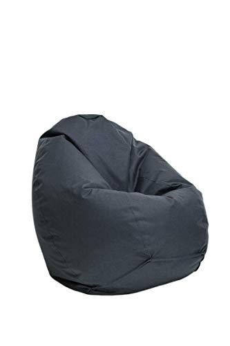 Bruni Sitzsack Classico L in Grau – XL Sitzsack für Erwachsene und Kinder mit Innensack zum...