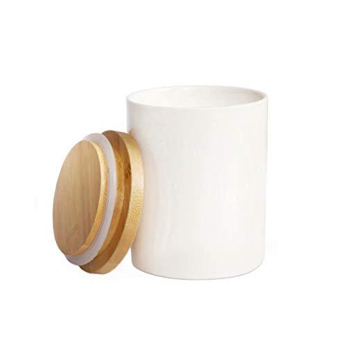 77L Vorratsdose, 300ML (10.13 FL OZ), Keramik Vorratsdose mit Luftdichtem Verschluss Bambusdeckel -...