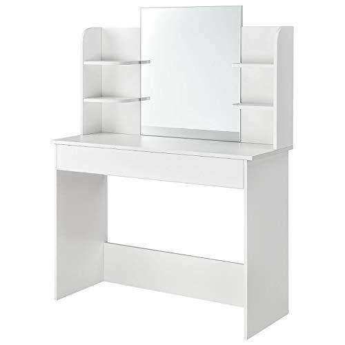 ArtLife Schminktisch Bella weiß |Frisiertisch mit Spiegel und Schublade für Schlafzimmer oder...