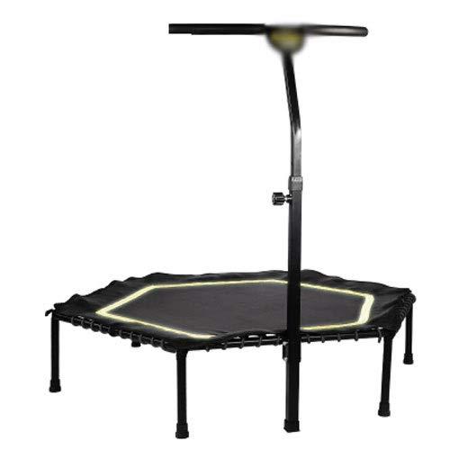 JGWHW Illuminate Silent Fitness Mini-Trampolin mit verstellbarem Handlaufbügel - Indoor Rebounder...