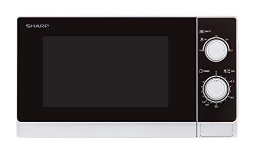 Sharp R200WW Solo-Mikrowelle / 20 L / 800 W / 5 Leistungsstufen / Timer von 35 Minuten bis 00...