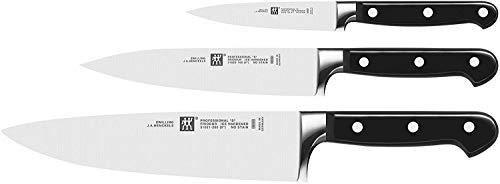 ZWILLING Messer-Set, 3-tlg., Spick-/Garniermesser, Fleischmesser, Kochmesser, Rostfreier...