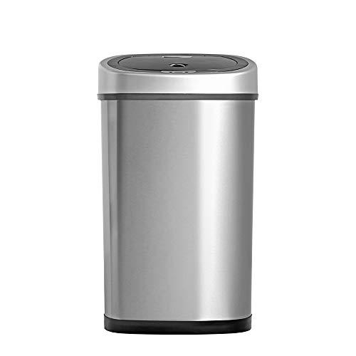 Homra Fonix 50 Liter Mülleimer mit Sensor - Elektrischer Mülleimer 50L, 1 Fach Abfalleimer mit...