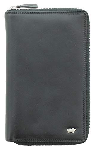 BRAUN BÜFFEL Brieftasche Golf 2.0 - aus echtem Leder mit 16 Fächern (schwarz)