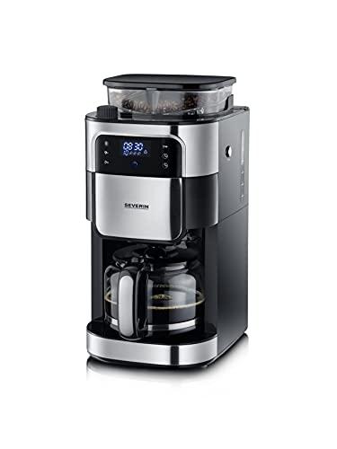 SEVERIN KA 4813 Filterkaffeemaschine mit Edelstahl-Mahlwerk, feinste Mahlung und individuell...