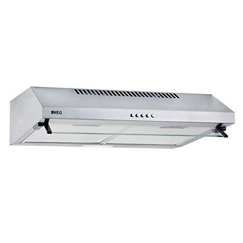 NEG Dunstabzugshaube NEG15-ATS (silber) Edelstahl-Unterbau-Haube (Abluft/Umluft) und LED-Beleuchtung...