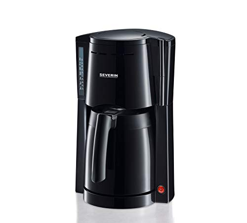 SEVERIN Kaffeemaschine, Für gemahlenen Filterkaffee, 8 Tassen, Inkl. Thermokanne, KA 4115, Schwarz