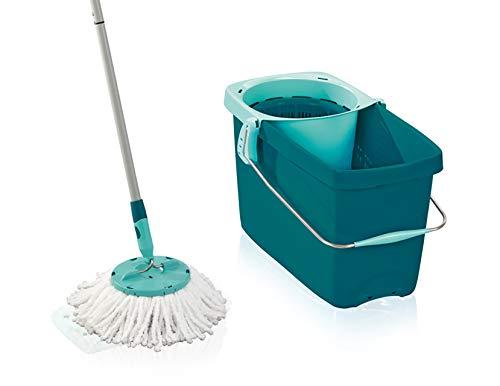 Leifheit Set Clean Twist Disc Mop Wischer für nebelfeuchte Reinigung, Wischmop mit effizienter...