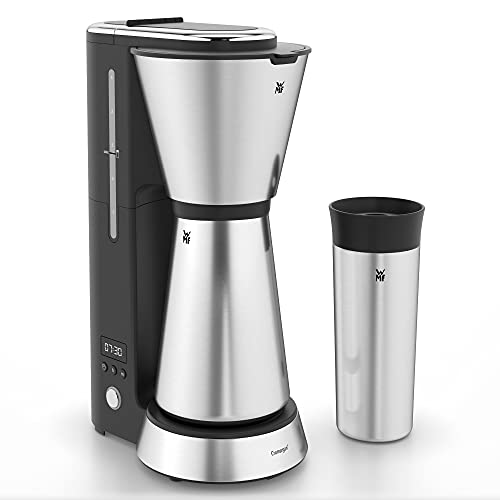 WMF Küchenminis Aroma Filterkaffeemaschine mit Thermoskanne, 870 Watt, Thermobecher to go, kleine...