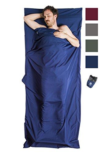 Bahidora Hüttenschlafsack aus Mikrofaser, Schlafsack Inlett, Schlafsack Inlay, Reiseschlafsack....
