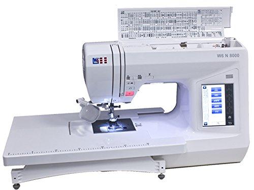 W6 WERTARBEIT N 8000 Computer-Nähmaschine (Nähen, Patchen, Quilten (504 Programme)) weiß
