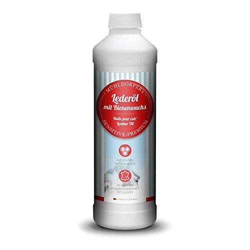 Mühldorfer Lederöl, 500 ml, für alle Glattleder, schützt und pflegt, ideal für Sättel,...