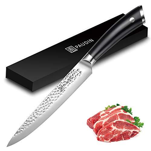 PAUDIN Fleischmesser 20cm, Profi Kochmesser 7Cr17Mov Scharfes Messer aus rostfreiem Deutscher...