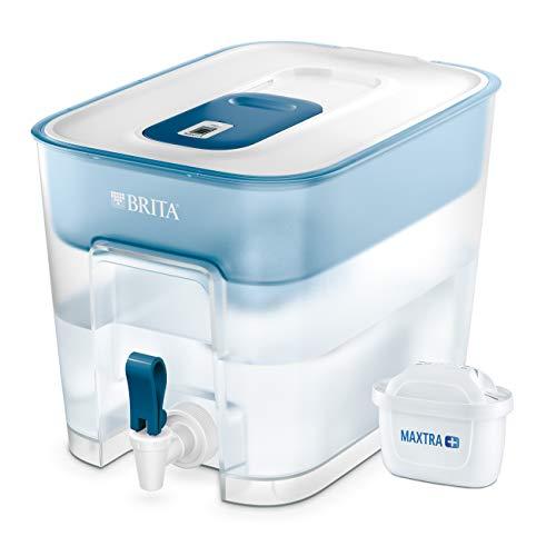 BRITA Wasserfilter Flow inkl. 1 MAXTRA+ Filterkartusche – XXL Tischwasserfilter mit Zapfhahn zur...