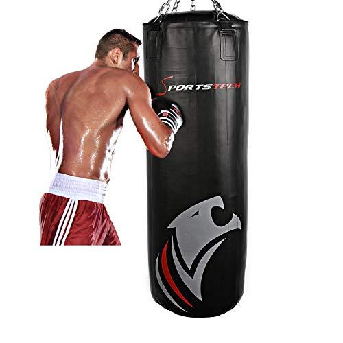Sportstech Premium Kampfsport Boxsack mit Innovativer 5-Punkte-Stahlkette | Eigenentwickelter Haken...