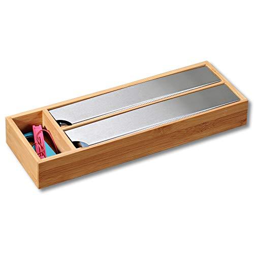 Kesper Folienspender für die Schublade, Bambus, Maße: 39,5 x 5,5 x 13 cm, Braun, 39.5 x 5.5 x 13...