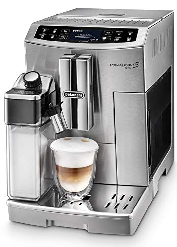 De'Longhi Primadonna S Evo ECAM 510.55.M Kaffeevollautomat mit Milchsystem, Cappuccino und Espresso...