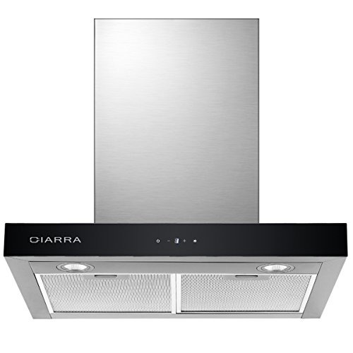 CIARRA CBCS6102 Dunstabzugshaube 60cm / Abluft oder Umluft / 550 m³/h/leise 60 cm Abzugshaube aus...