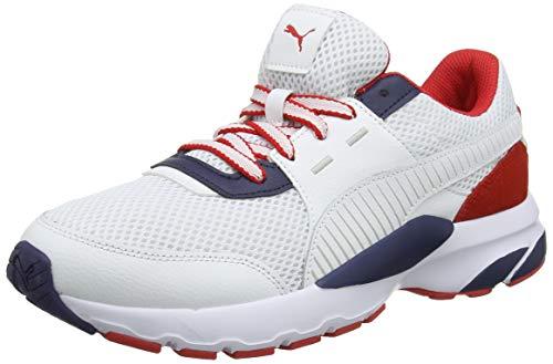 Puma Unisex-Erwachsene Future Runner Premium Sneaker, WeißWeiß (Puma White-Peacoat-High Risk Red...