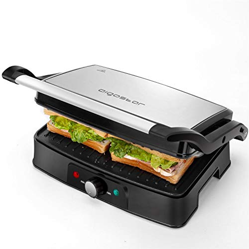 Aigostar Hitte 30HFA - Elektrische Tischgrills/Kontaktgrill/Panini Maker, Sandwich maker,...