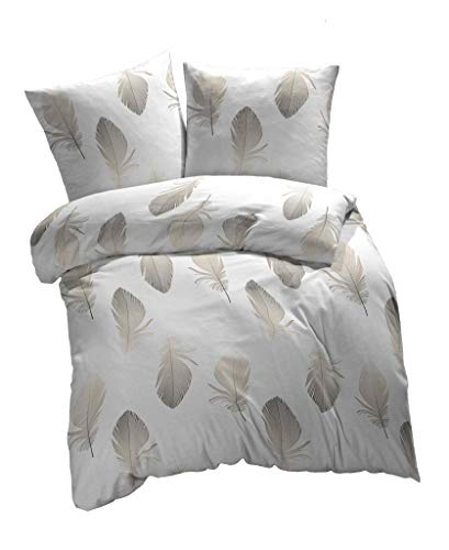 etérea Baumwolle Renforcé Bettwäsche - Federn - weich und angenehm auf der Haut, 2 teilig 135x200...
