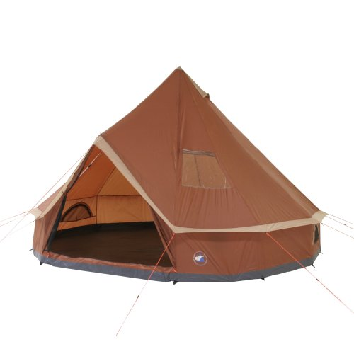 10T Outdoor Equipment 10T1758-4260181762456 Campingzelt Mojave 400 Wood XXL Tipi Zelt wasserdichtes...