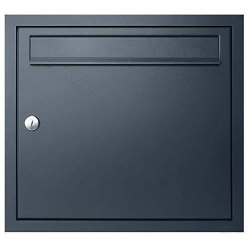Unterputz-Briefkasten anthrazit-grau (RAL 7016) MOCAVI UP1 Qualitäts-Postkasten Unterputz,...