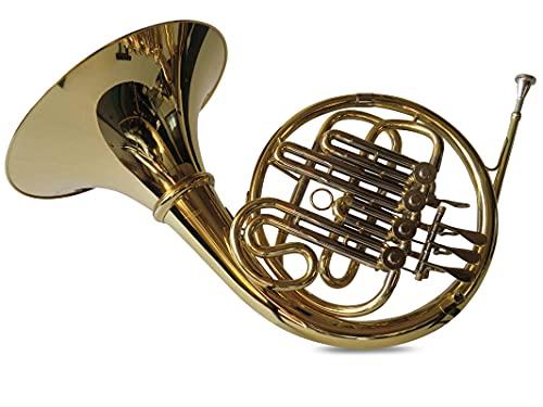 SYMPHONIE WESTERWALD Waldhorn/French Horn in Bb, Gold/Silber + Hornständer, inkl....