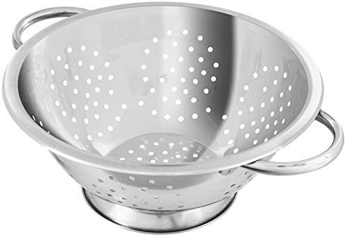 Fackelmann Abseihschüssel, Küchensieb aus Edelstahl, Nudelsieb mit Griffen (Farbe: Silber), Menge:...