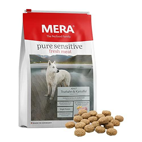 MERA Pure Sensitive Fresh Meat Adult Truthahn und Kartoffel Hundefutter – Trockenfutter für Hunde...