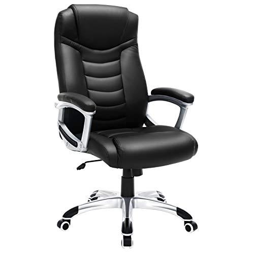 SONGMICS Ergonomischer Bürostuhl, höhenverstellbarer Drehstuhl, robust, stabil und langlebig,...
